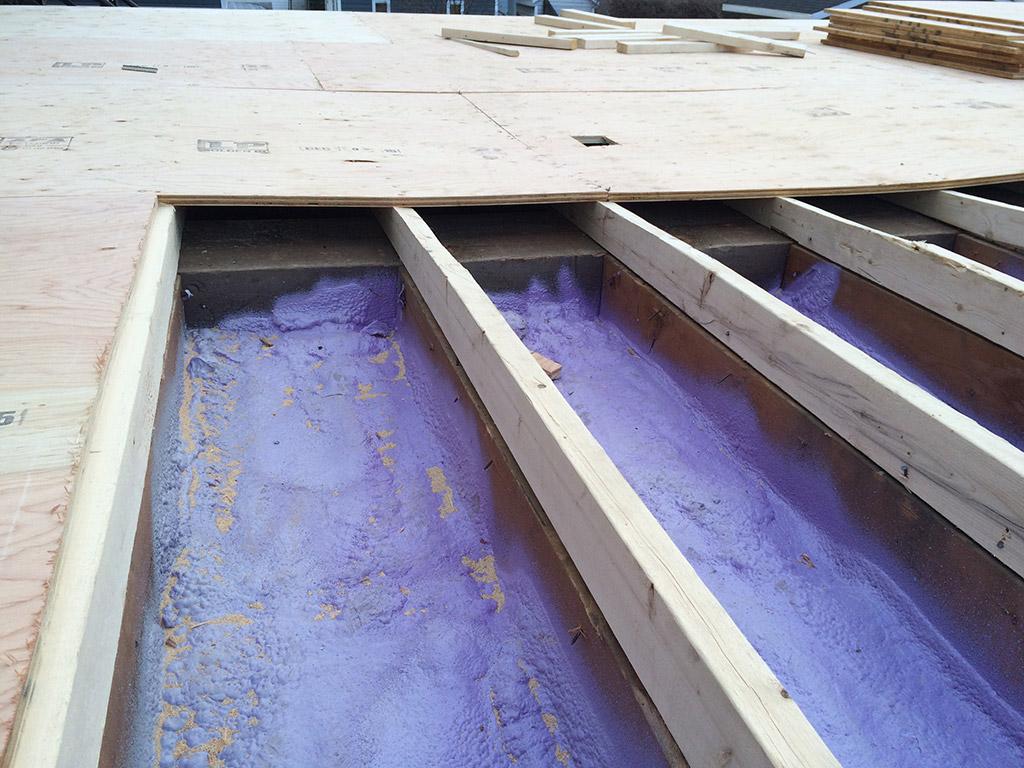 Isolation d'un plancher commercial
