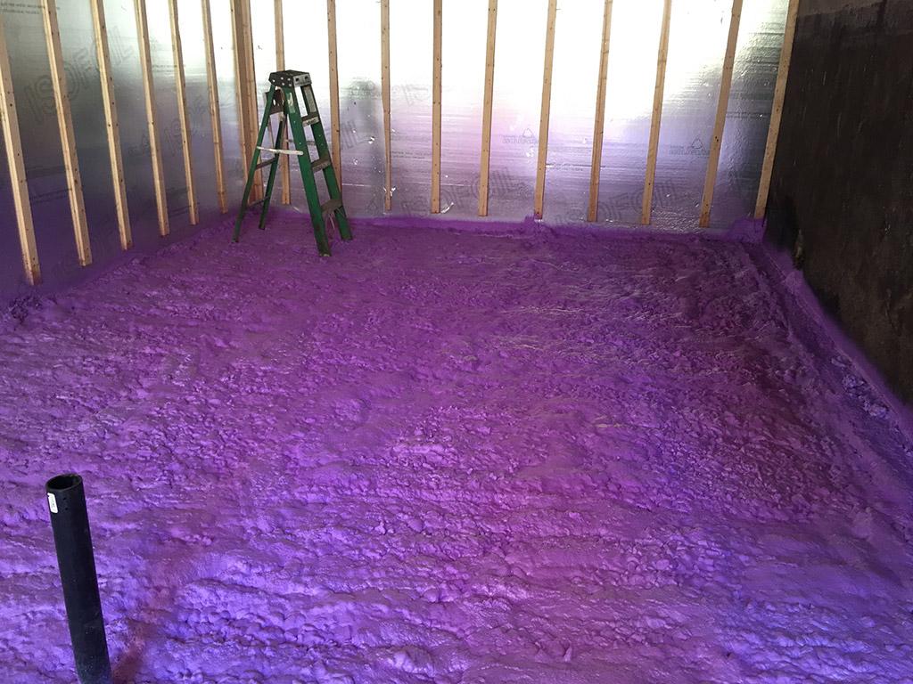 Isolation d'un plancher de sous-sol
